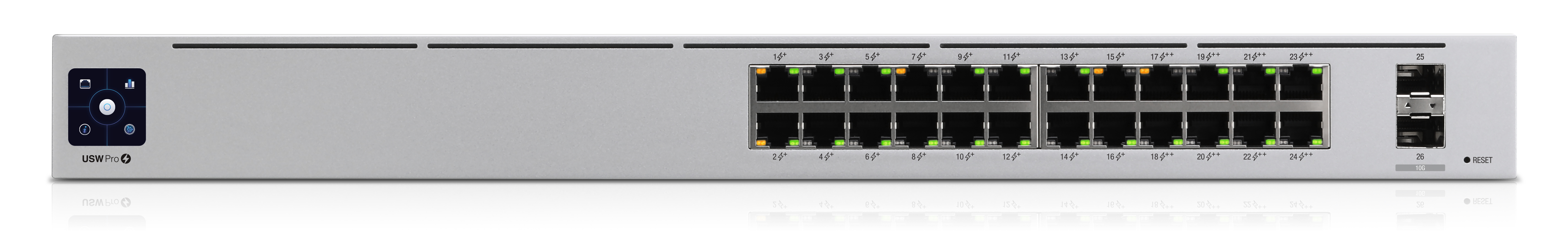 ubiquiti usw-pro-24-poe jetzt 25% billiger unifi 24port gigabit switch with  802.3bt poe,  senetic